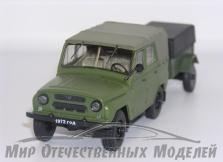 УАЗ-469Б (НАП) зеленый Прицеп-8109 с тентом