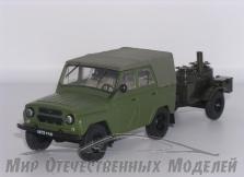 УАЗ- 469 Б (НАП) (зеленый) прицеп кухня