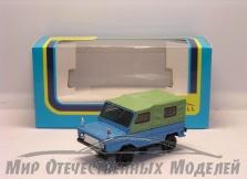 """Сувенирная модель ЛуАЗ-969 """"Волынь"""" (голубой-зеленый) 1:43"""