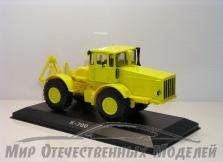Масштабная модель Трактора К-700 колесный (металл, желтый) с журналом 1:43