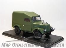 Сувенирная модель ГАЗ-69 (металл) хаки 1:24