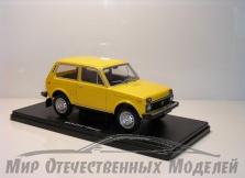 Сувенирная модель Нива-2121 (металл) жёлтый 1:24