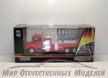 """маш """"LIFT FIRE TRUCK"""" пожарная, с подъемником 1:48"""