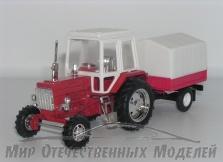 МТЗ-82 (металл, пластковая кабина) с прицепом