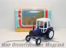 Трактор МТЗ-82 (пластик, синий)  1:43