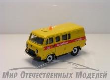 """УАЗ-39099 (пластик, окрашен) """"Аварийная Служба"""" 1:43"""