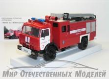 Сувенирная модель АЦ 3-40 Пожарная автоцистерна (на базе КАМАЗ 4326) ПЧ №7 г.Курчатов 1:43